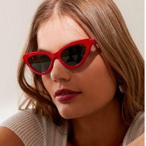 Red Cat Eye Sunglasses NEW